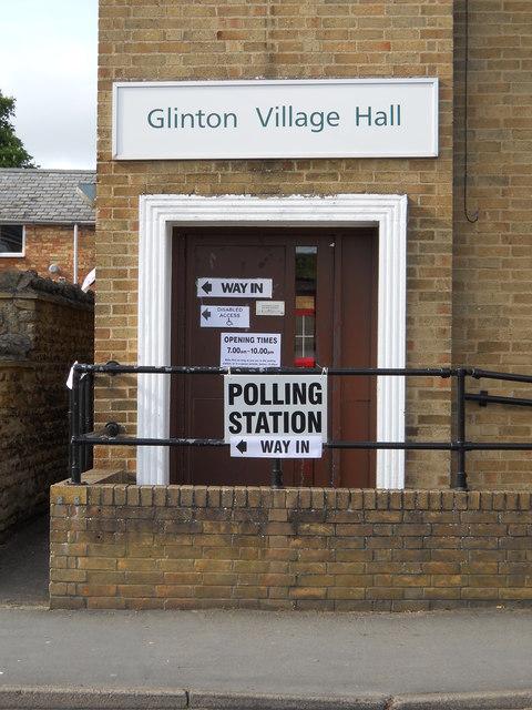 Polling station at Glinton Village Hall