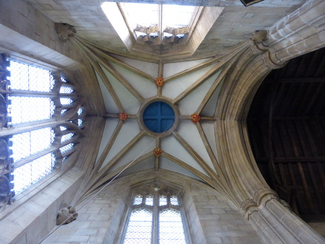 Church of All Saints: The Tower vaulting