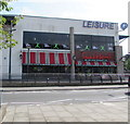 ST2995 : Frankie & Benny's and Simply Gym in Cwmbran town centre by Jaggery