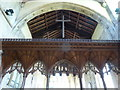 TF3024 : Church of All Saints:  The canopy of the Rood Screen by Bob Harvey