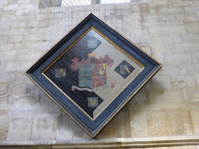 Church of All Saints: Hatchment of Henry Boulton