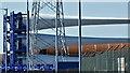 J3777 : Wind turbines blades, Belfast harbour - May 2017(1) by Albert Bridge