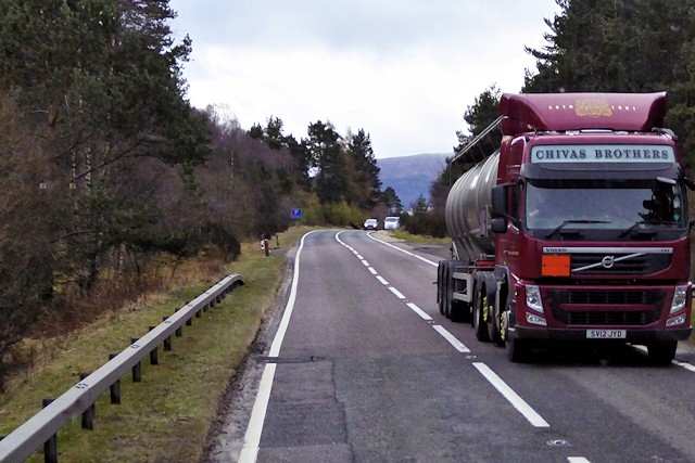 HGV on the A95 near Avielochan © David Dixon cc-by-sa/2.0 :: Geograph  Britain and Ireland