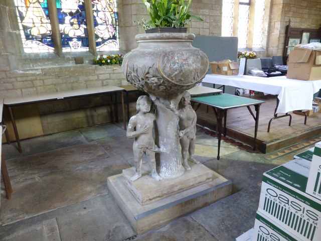 "Church of All Saints: The ""Adam and Eve"" font"