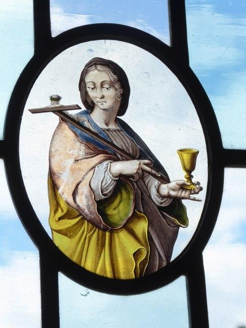 St John, Hoveton: stained glass detail (g)