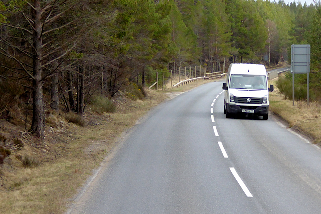 White Van on the A938 North of Carrbridge