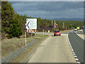 NH8724 : Southbound A9, Turnoff for Carrbridge by David Dixon