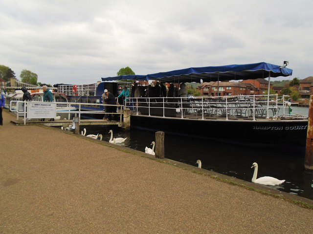 Pleasure Boat on Thames at Marlow