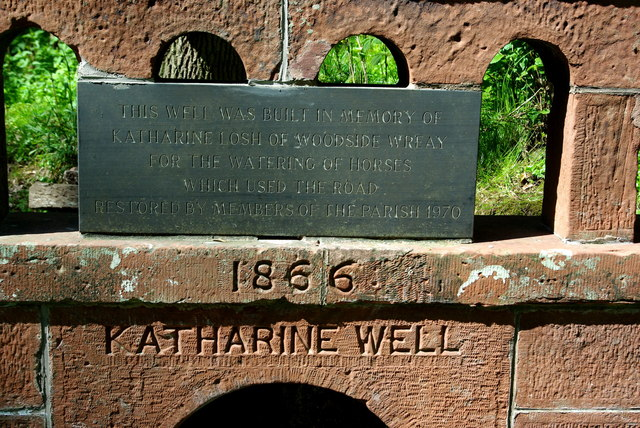 Inscription on the Katharine Well