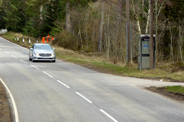 Telephone Kiosk on the A939 at Cottartown