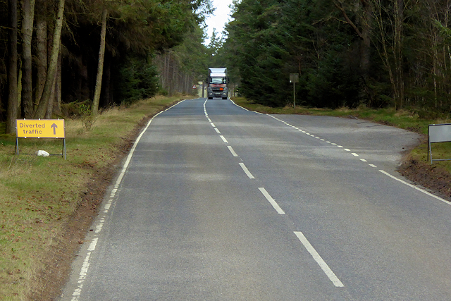 Layby on the A939, Mid Lynmore Wood