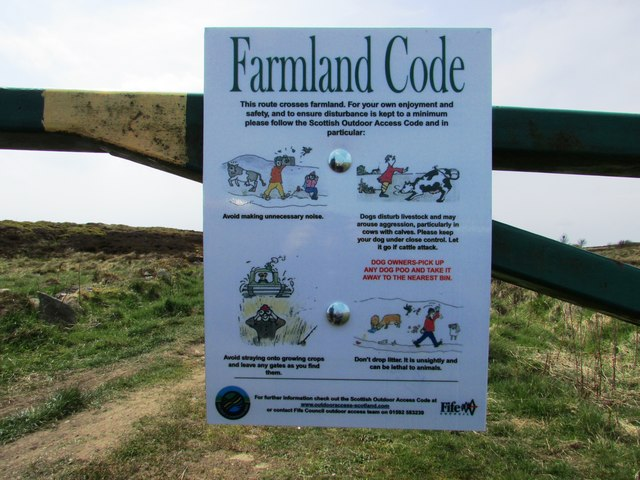 Notice on gate at Purin Hill