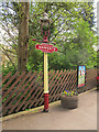SE0337 : Haworth station - old gas lamp by Stephen Craven