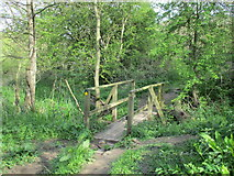 SE7365 : Footbridge on a path by the River Derwent by Jonathan Thacker
