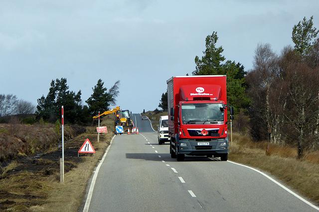 Goods Vehicle Crossing Dava Moor
