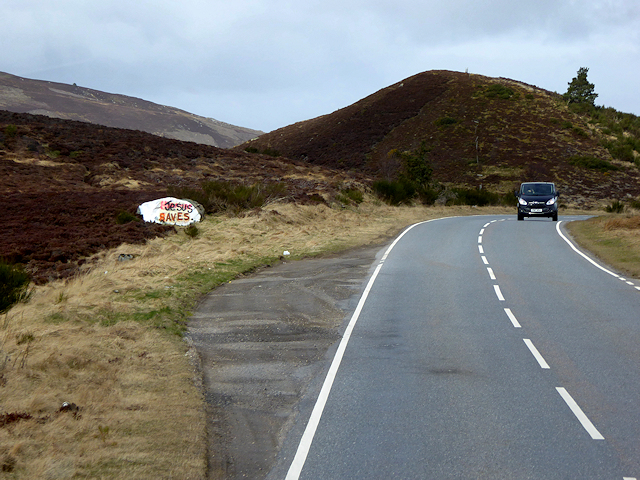 'Jesus Saves' Layby on Dava Moor