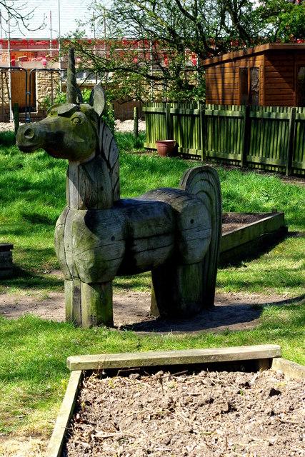 Wooden unicorn