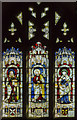 SK6943 : Stained glass window, St Peter's church, East Bridgford by Julian P Guffogg