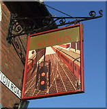 TM0321 : Sign for the Station public house, Wivenhoe by JThomas