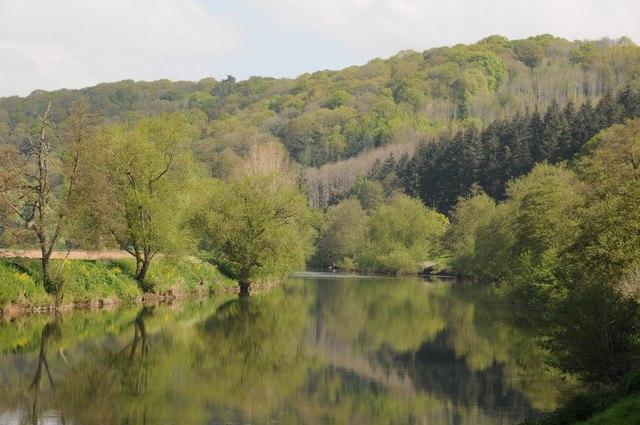 The River Wye below How Caple