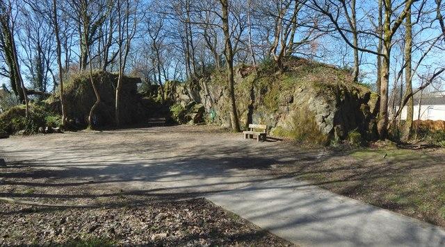 Path through the old Rashielee Quarries