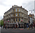 TQ3183 : Bank Buildings, Goswell Road/St John Street, Islington by Julian Osley