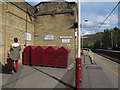 SE0641 : Cycle lockers on Keighley station by Stephen Craven