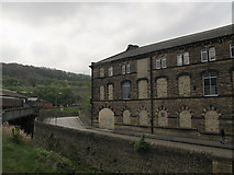 SE0641 : East end of old mill on Low Mill Lane, Keighley  by Stephen Craven