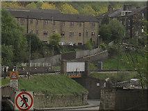 SE0641 : Bridge over Low Mill Lane by Stephen Craven
