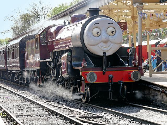 James the Red Engine at Platform 3