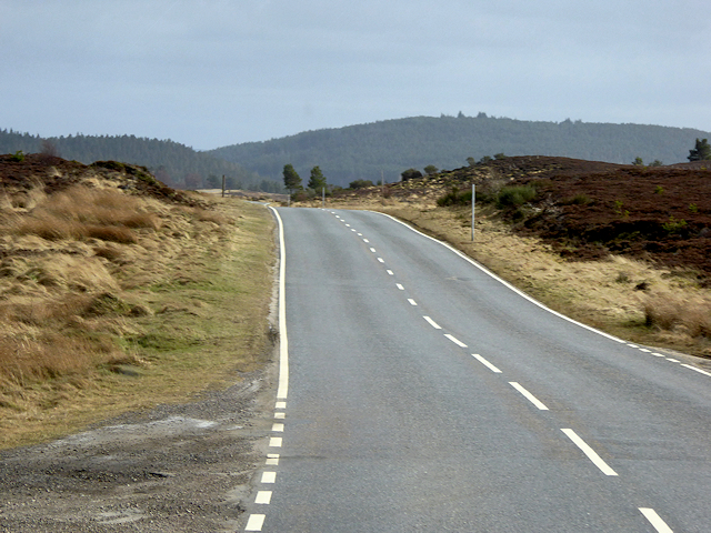 Military Road Southbound Across Dava Moor