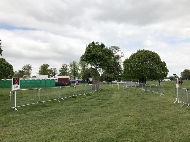 Horse walk at Badminton Horse Trials