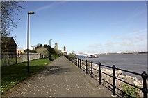 SJ3290 : Seacombe Promenade by Jeff Buck
