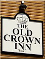 SO8204 : Old Crown Inn name sign, Ebley, Stroud by Jaggery