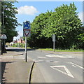 SO8204 : Give Way sign facing the B4008 in Ebley, Stroud by Jaggery