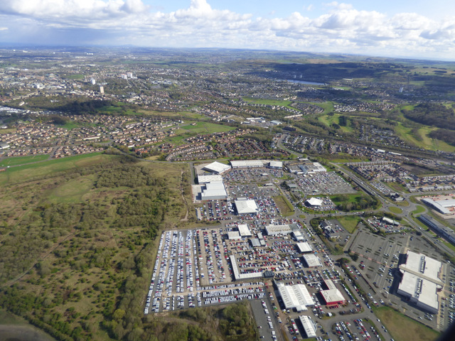 The Phoenix retail park from the air