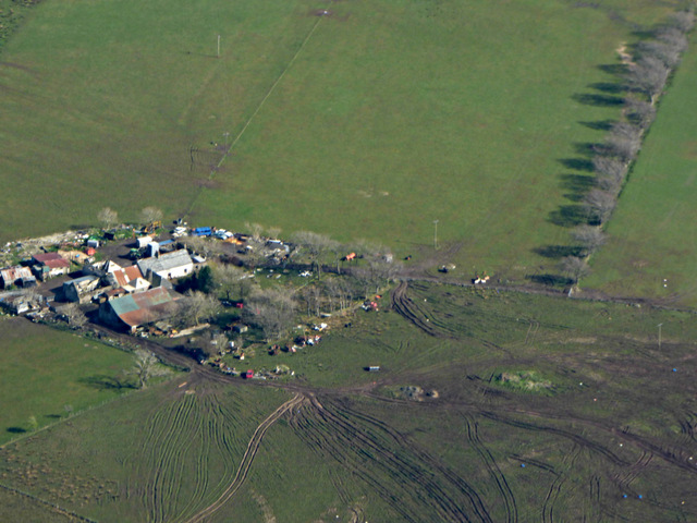 Mountop Farm from the air