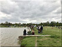 ST8083 : South end of Badminton Lake by Jonathan Hutchins