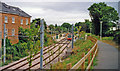 TQ2768 : Mitcham station, Croydon Tramlink 2000 by Ben Brooksbank