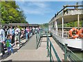ST8043 : Longleat, landing stage by Mike Faherty