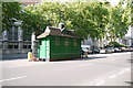 TQ2779 : Green Taxi Cabman's Shelter Thurloe Place by Nigel Mykura