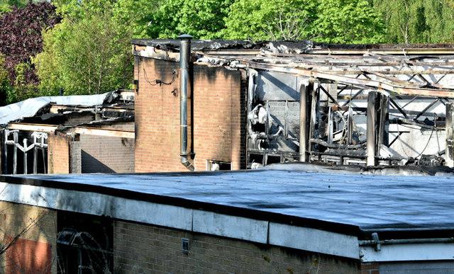 Former Joss Cardwell Centre (fire damage), Belfast - May 2017(1)