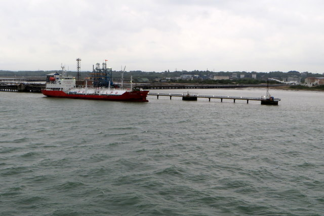 LPG Ship at Fawley oil terminal
