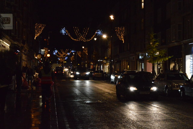 Christmas lights, Marylebone High St