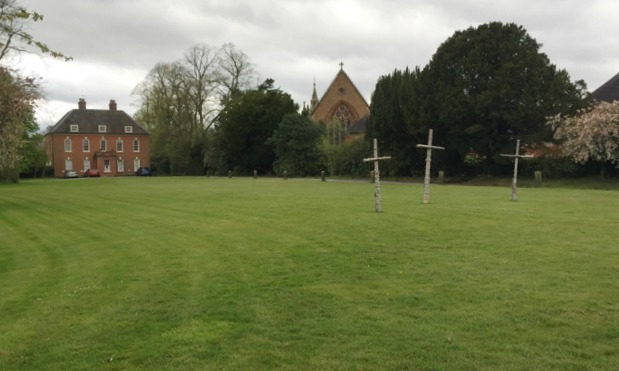 Temple House and church, Temple Balsall, Easter 2017
