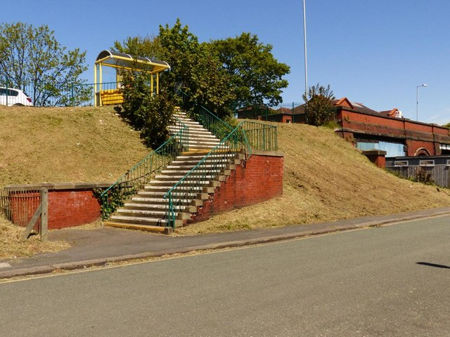 Steps up to Formby Rail Station