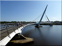 C4316 : The Peace Bridge, Derry / Londonderry by Kenneth  Allen