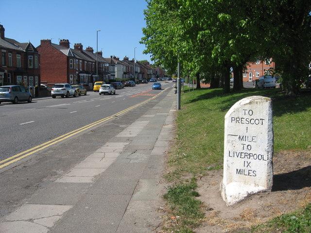Milestone, Warrington Road