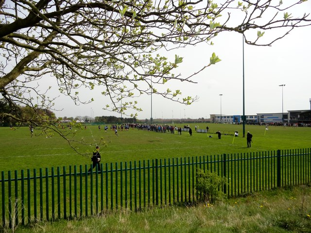 Playing fields at Consett Rugby Club