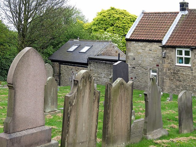 Rear of Hearse House from St Andrew's Churchyard